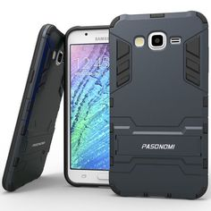 1. J7 Case, Galaxy J7 Case, Pasonomi [Heavy Duty] [Shock-Absorption] [Kickstand Feature] Hybrid Dual Layer Armor Defender