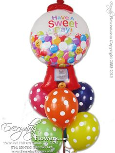 Have A Sweet Day Gumball Balloons by Everyday Flowers