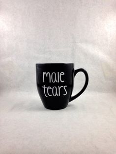 NEW DESIGN Male Tears coffee mug Featured on by thelittlevinylsaur
