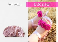 Cute baby shoes out of recycled materials! make