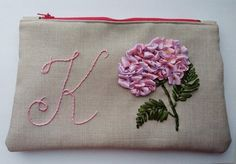 Monogram makeup bag Cosmetic case Personalized makeup bag Floral monogram bag Ribbon embroidery bag Women Pouch Birthday present For mom by RainbowEmbroideryUA on Etsy Personalized Makeup Bags, Personalised Gifts Unique, Embroidery Bags, Floral Embroidery, Birthday Presents For Mom, Unique Gifts For Mom, Fabric Bags, Girls Bags, Cosmetic Case