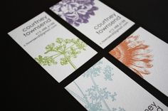 Botanical Calling Cards 5 designs in a set of 50 by siskastudio $20 from siskastudio on etsy