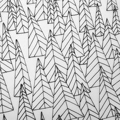 triangle trees by Lisa Congdon | #design #illustration