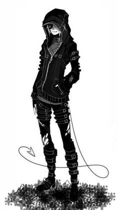 Miko about town Emo Art, Chibi, Hot Anime Boy, Arte Horror, Hommes Sexy, Manga Boy, Anime Outfits, Character Design Inspiration, Dark Beauty