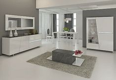 Salle A Manger Blanc Laque Pas Cher – Ideen für die Küche Dining Room Design, Dining Room Furniture, Home Furniture, Furniture Design, Bedroom Cupboards, Farmhouse Side Table, Modern Sideboard, Luxury Living, Bedroom Decor