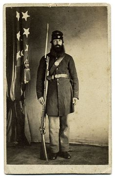 Federal Infantry, from the frock coat, early war photo.