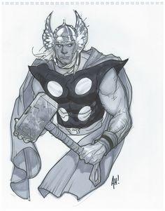 Thor by Adam Hughes