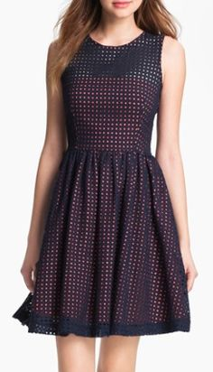polka dot pattern purple dress  http://rstyle.me/n/m3pt6pdpe