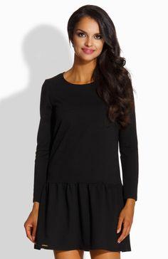 1569560d8f Lemoniade L218 sukienka czarna - Dzianinowe sukienki damskie - Sukienki  Lemoniade - Modne sukienki damskie - Sklep