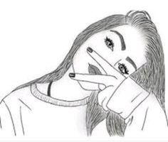 69 Trendy wallpaper desenho preto e branco casal Hipster Girl Drawing, Tumblr Girl Drawing, Tumblr Drawings, Tumblr Art, Girl Drawing Sketches, Girly Drawings, Outline Drawings, Art Drawings Sketches Simple, Tumblr Girls