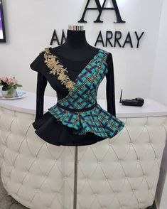Classiest ankara peplum top designs and styles of 2018 for ladies. Beautifully made ankara peplum top designs African Wear Dresses, African Fashion Ankara, Latest African Fashion Dresses, African Print Fashion, Africa Fashion, African Attire, African Style, Latest Fashion, Ankara Peplum Tops