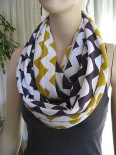 Ravens Vikings Team Colors Purple and Gold Chevron Infinity Scarves by ChevronScarf on Etsy