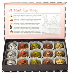 Alice in Wonderland inspired chocolates! These are inspired by the famous mad tea party.