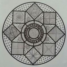 Zentangle inspired ~ O♡O by Spaci