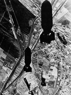 WW2 Bombs falling
