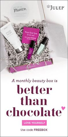 The Julep Maven Subscription is currently offering a FREE first box. I've got 9 of their polishes and love them! Jump on this one, fast (canceling is easy...I know from experience!). :-)