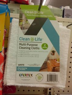 New Dollar Tree Find!  Clean Life Multi-Purpose Cleaning Cloths