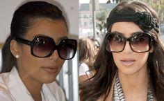 Kim Kardashian si perechile ei de ochelari de soare oversized