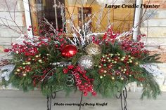 Christmas Window Boxes, Winter Window Boxes, Christmas Urns, Christmas Greenery, Christmas Arrangements, Christmas Centerpieces, Christmas Wreaths, Christmas Crafts, Christmas Ornament