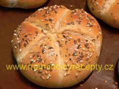 Špaldové kaiserky - My site Slovak Recipes, Pan Integral, Cooking Recipes, Healthy Recipes, Healthy Food, Bread Rolls, Baguette, Ham, Bakery