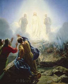 The Transfiguration - Bloch Matthew 17: And after six days Jesus taketh Peter, James, and John his brother, and bringeth them up into an high mountain apart, And was transfigured before them: and his face did shine as the sun, and his raiment was white as the light. And, behold, there appeared unto them Moses and Elias talking with him. Then answered Peter, and said unto Jesus, Lord, it is good for us to be here: While he yet spake, and behold a voice out of the cloud, which...