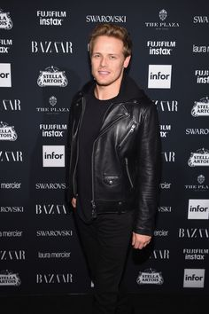 "Here is a NEW HQ Pic of Sam Heughan at ""ICONS"" Celebration by Harper's BAZAAR SOURCE"