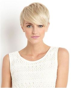 Blonde Pixie Hair Cut for Women