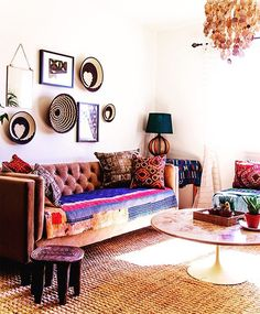An Afribo style home we designed last year for a charity design project together with @faithblakeney  still one of our favorite projects -- we decorated the whole home on a $5000 budget. #jungalowstyle (photo by @danaerolynhorst)
