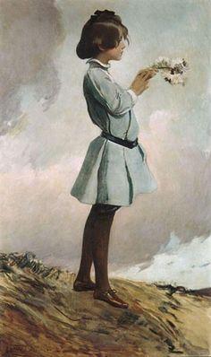 「少女」1903年頃ジョン・ホワイト・アレクサンダーJohn White Alexander , Girl (Geraldine Russell)