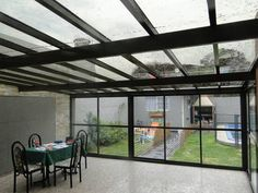 Pergola With Glass Roof Outdoor Decor, House Design, Roof Balcony, Future House, Glass House, Home, Patio Design, Pergola Plans, Ventanas