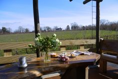 Let The Sir Paul Gooderham, a lovely converted Showman's Carriage overlooking Bodiam Castle and cider orchards .. bliss!  www.bramleyandteal.co.uk