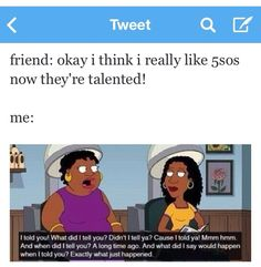 Oh my gosh! This just happened with me yesterday after my best friend told me she finally listened to them! My Best Friend, Best Friends, 5sos Funny, Sounds Good, 5 Sos, Luke Hemmings, Derp, 5 Seconds Of Summer, Music Bands