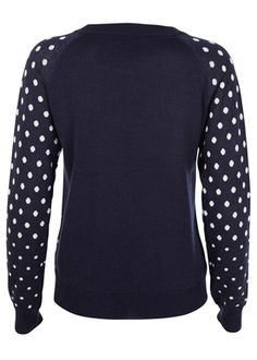 - Strik - Dots Sweater - Navy