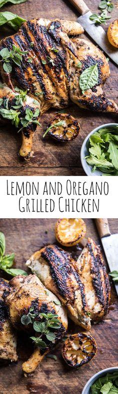 Lemon and Oregano Grilled Chicken | halfbakedharvest.com @hbharvest