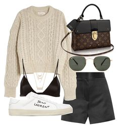 """""""Untitled #21094"""" by florencia95 ❤ liked on Polyvore featuring The Row, Étoile Isabel Marant, Ray-Ban, Fleur du Mal, Yves Saint Laurent and Forever 21"""