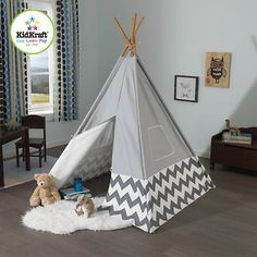 Kidkraft® Grey and White Chevron Teepee