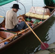 Traditional Camping Skiff. Starting to see these on the River again this summer. I'd love to try one - not sure I'm much of a rower nowadays though. More a canoe paddler.