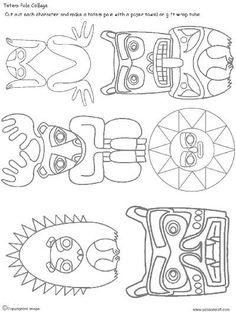 Pocahontas Porcupine Elk Frog Bear Sun Cougar Totem Good natured, reminder of… American Indian Art, Native American Art, Native American Totem Poles, Middle School Art, Art School, Totem Pole Art, Native American Projects, Arte Tribal, 5th Grade Art