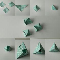 Origamis los mejores para hacer desde la casa comparte origami hace Origami Design, Diy Origami, Origami Star Box, Origami And Kirigami, Origami Folding, Paper Crafts Origami, Origami Stars, Origami Tutorial, Paper Crafting