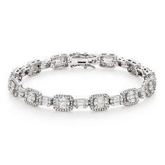 Beaverbrooks   Silver Cubic Zirconia Halo Bracelet #Beaverbrooks #RaceReady #Jewellery