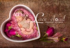 Digital backdrop background Valentine's Day by LaceCloudStudio