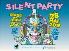 Cette année, pour la première fois naxoo organisera en partenariat avec Sonopack Festival, une SILENT PARTY ! Chaque participant reçoit un casque individuel Comic Books, Comics, Cover, First Time, Helmet, Beginning Sounds, Drawing Cartoons, Comic Book, Blankets