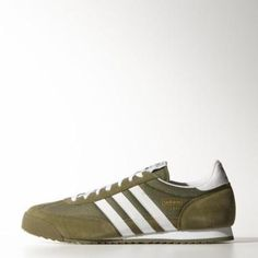 wholesale dealer 9a5ed 0aa08 adidas Dragon Shoes 3.5 Olive Cargo   Ftwr White   Gold Met.  shoes