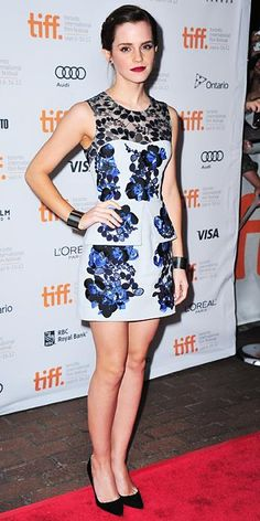 Emma Watson's Red Carpet Style - In Erdem, 2012 - from InStyle.com