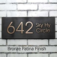 Modern Advantage Street Sign Home Address: 239.00 simple elegance. Choice of finish.
