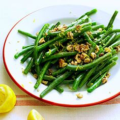 42 dishes with nuts | Green Beans with Lemon and Walnuts | Sunset.com #SunsetTurkeyDay