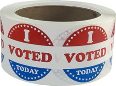 I Voted Today Stickers  500 Total Election by TheDotSpotLane