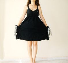 Little Black Dress upcycled recycled repurposed by boutiqueseragun, $29.00