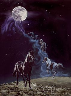 Awesome The Legend By Kim McElroy U201cThe Magic Of The Moon And The Stars In The Sky  Spoke To Him. Let Your Mares Run. Let Them Keep Running Into The Night Mist  Beyond ...