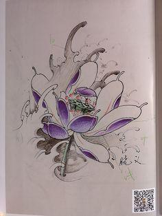 Floral Tattoo Design, Flower Tattoo Designs, Flower Tattoos, Oriental Tattoo, Lotus Flower, New Tattoos, Watercolor Tattoo, Flowers, Flower Designs